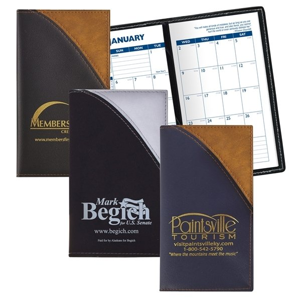 Promotional Barcelona - Two - Tone Soft Vinyl Cover Monthly Planner
