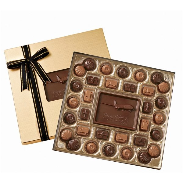 Promotional Medium Custom Chocolate Delights Gift Box