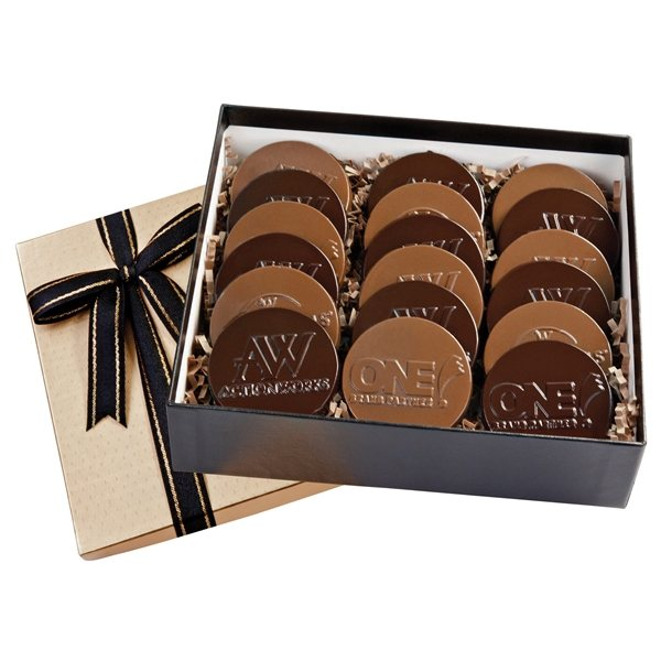 Promotional Cookie Gift Box With 18 Digital Round Cookies