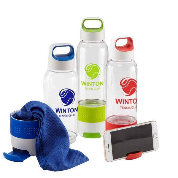 Promotional Hydra Chill Water Bottle w / Cooling Towel