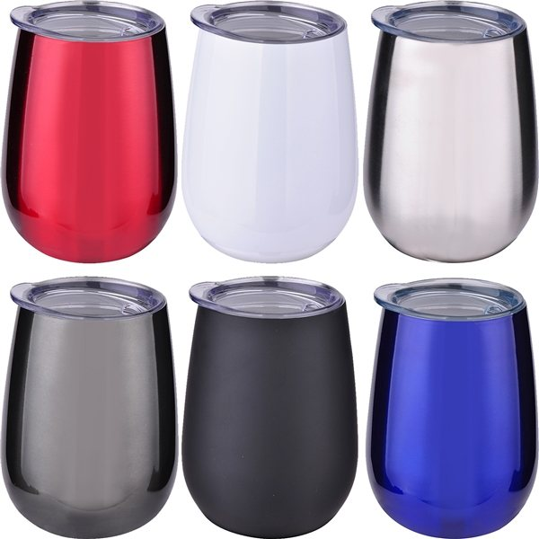 Promotional 10 oz Stainless Stemless Wine Tumbler