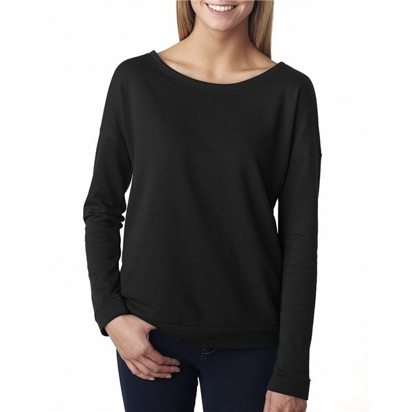 Promotional Next Level Ladies French Terry Long - Sleeve Scoop - 6931