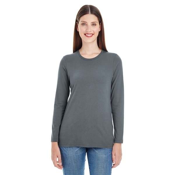 Promotional American Apparel Ladies Fine Jersey Classic Long - Sleeve T - Shirt