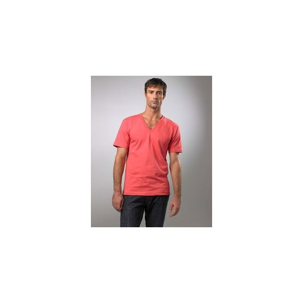 Promotional American Apparel Organic Cotton Short Sleeve V - Neck