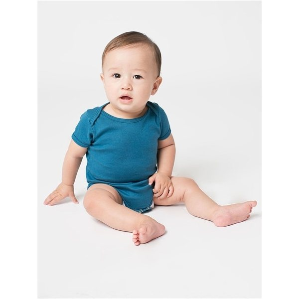 Promotional American Apparel Infant Organic Baby Rib Short - Sleeve One - Piece