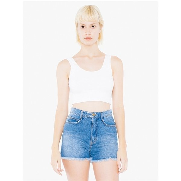 Promotional American Apparel Ladies Cotton Spandex Crop Tank