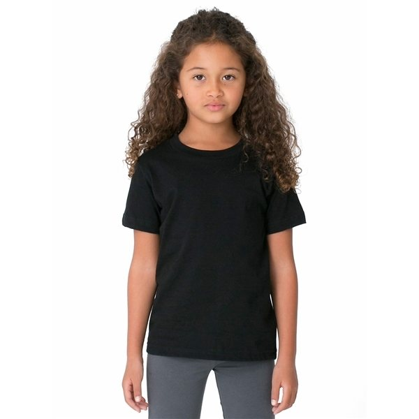 Promotional American Apparel Toddler Poly - Cotton Short - Sleeve Crewneck