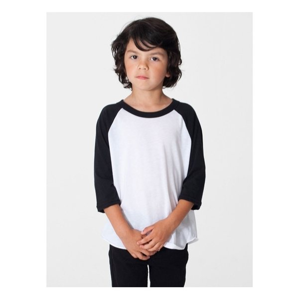 Promotional American Apparel Toddler Poly - Cotton 3/4- Sleeve T - Shirt