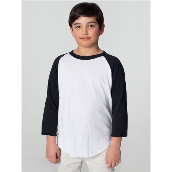 Promotional American Apparel Youth Poly - Cotton 3/4- Sleeve T - Shirt