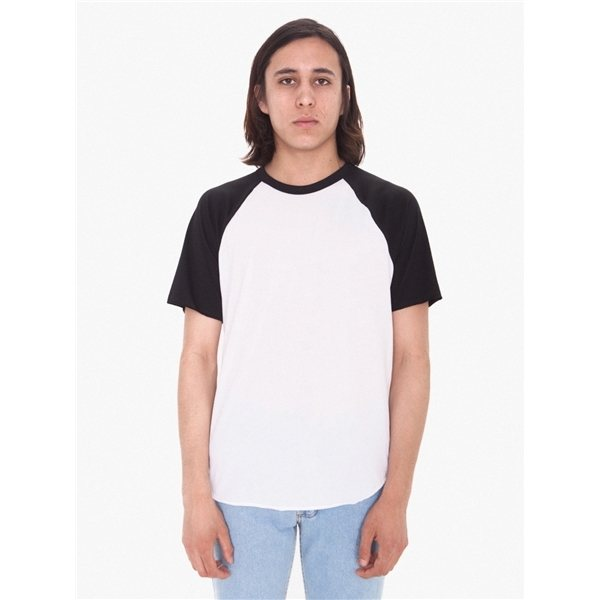 Promotional American Apparel Unisex Poly - Cotton Raglan T - Shirt