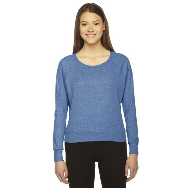 Promotional American Apparel Ladies Triblend Lightweight Raglan Pullover