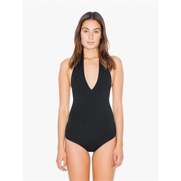 Promotional American Apparel Ladies Cotton Spandex Halter Bodysuit