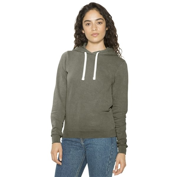 Promotional American Apparel Ladies French Terry Garment - Dyed Mid - Length Hooded Sweatshirt