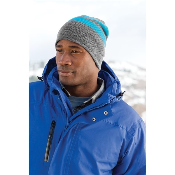 Promotional Port Company(R) Fleece - Lined Striped Beanie Cap