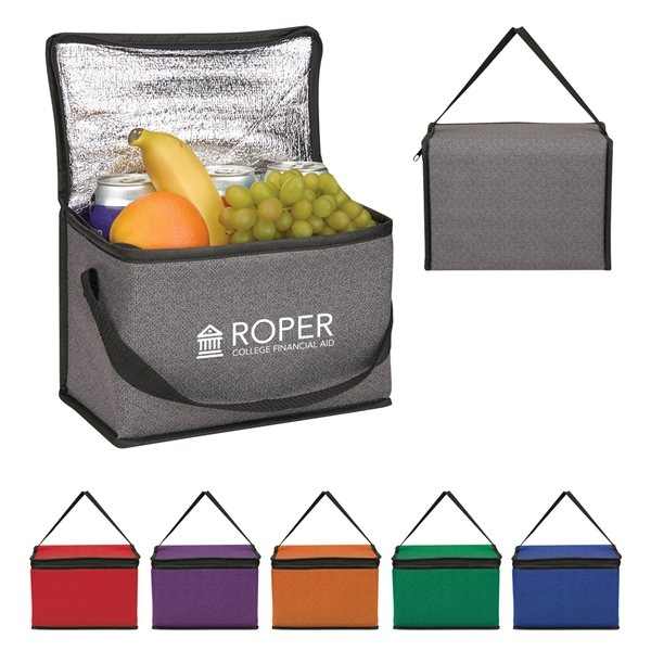 Promotional Heathered Non - Woven Cooler Lunch Bag