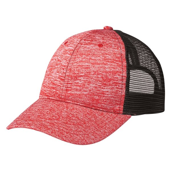 210534a02f61a Heathered Jersey Mesh Back Cap