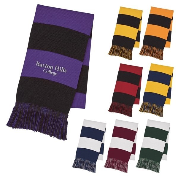 Promotional Rugby Stripe Scarf