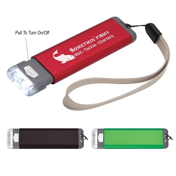 Promotional Aluminum Flashlight With Strap