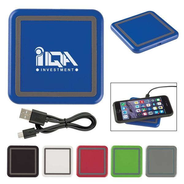 Promotional Color Squared Wireless Charging Pad