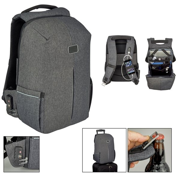 Promotional 600D Water Repellent Polycanvas Backpack