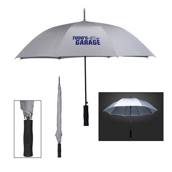 Promotional 46 Arc Rain Delay Reflective Umbrella