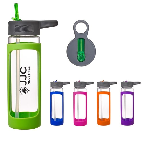 Promotional 18 oz Haven Glass Bottle