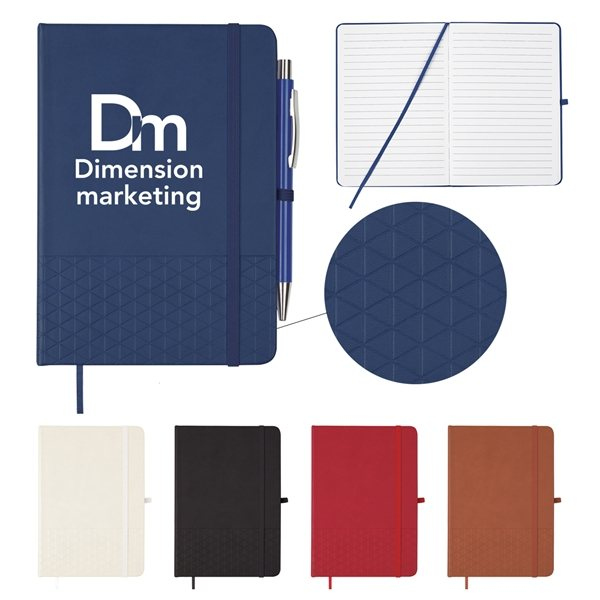 Promotional Symmetrical Journal with Elastic Pen Loop