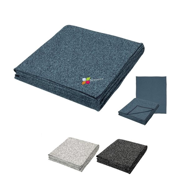 Promotional Heathered Fleece Blanket