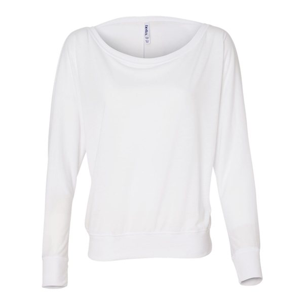 Promotional Bella + Canvas - Womens Flowy Long Sleeve Off Shoulder Tee - 8850