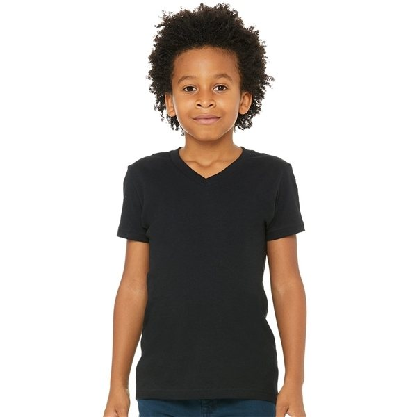 Promotional Bella + Canvas - Youth Short Sleeve V - Neck Jersey Tee - 3005y