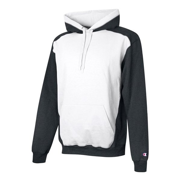 Promotional Champion - Double Dry Eco Colorblocked Hooded Sweatshirt