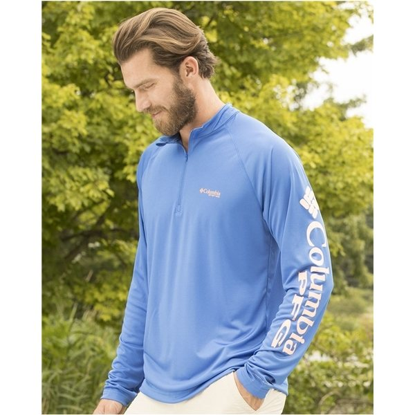 Promotional Columbia - Terminal Tackle Long Sleeve Quarter - Zip Shirt