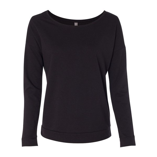 Promotional Next Level - Womens Terry Long Sleeve Scoopneck T - Shirt - 6931