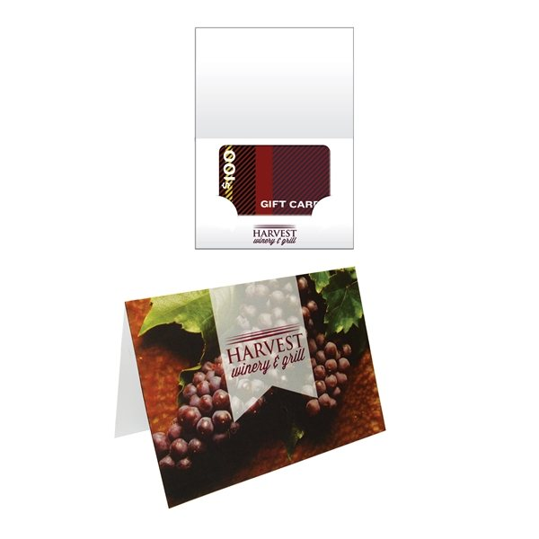 Promotional Greeting Gift Card Holder Printed Full Color