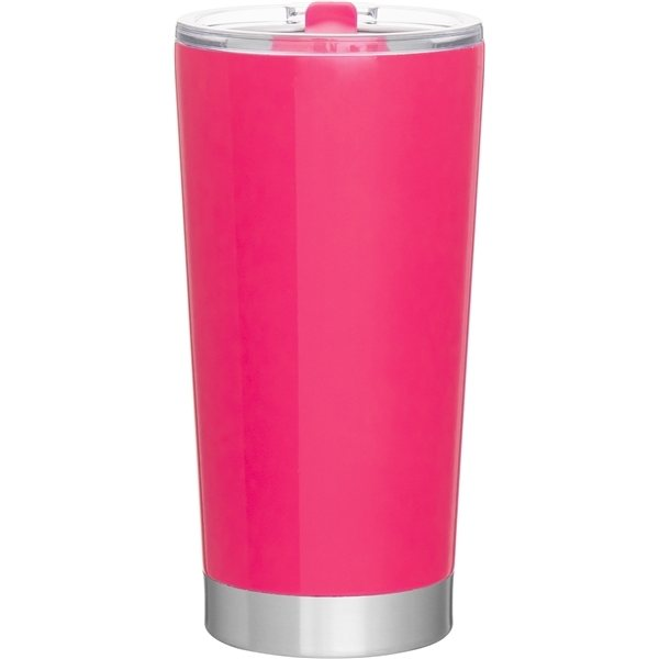 Promotional 20 oz Frost Stainless Steel Tumbler - Neon Pink