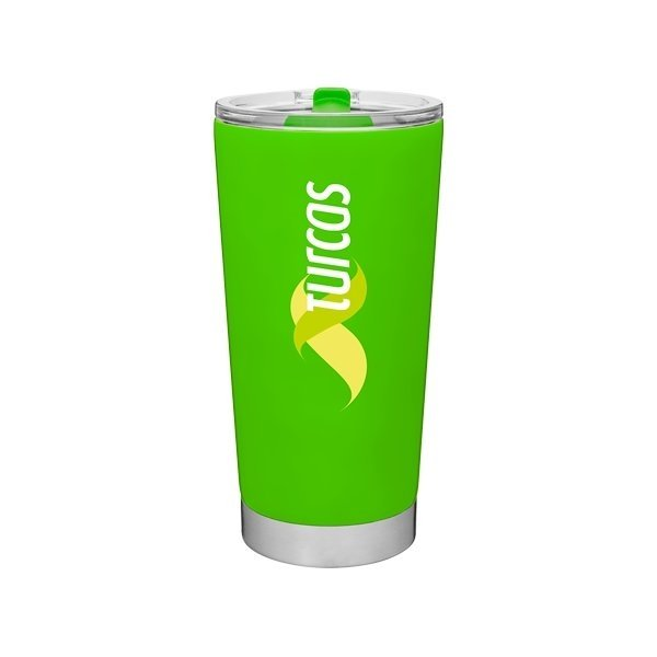 Promotional 20 oz Frost Stainless Steel Tumbler - Neon Green