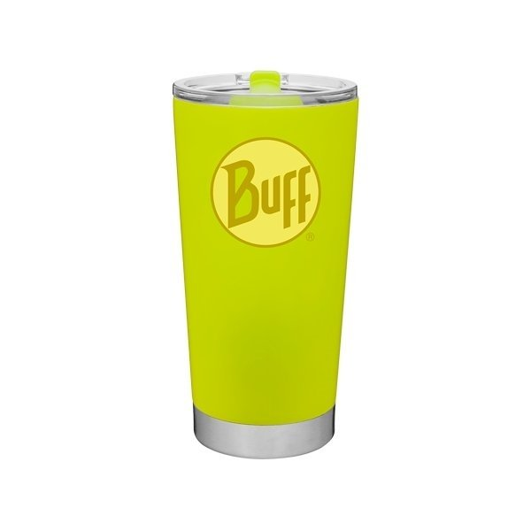 Promotional 20 oz Frost Stainless Steel Tumbler - Neon Yellow