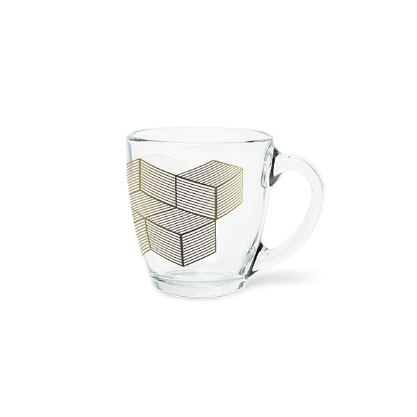 Promotional Curved Glass Decal Mug