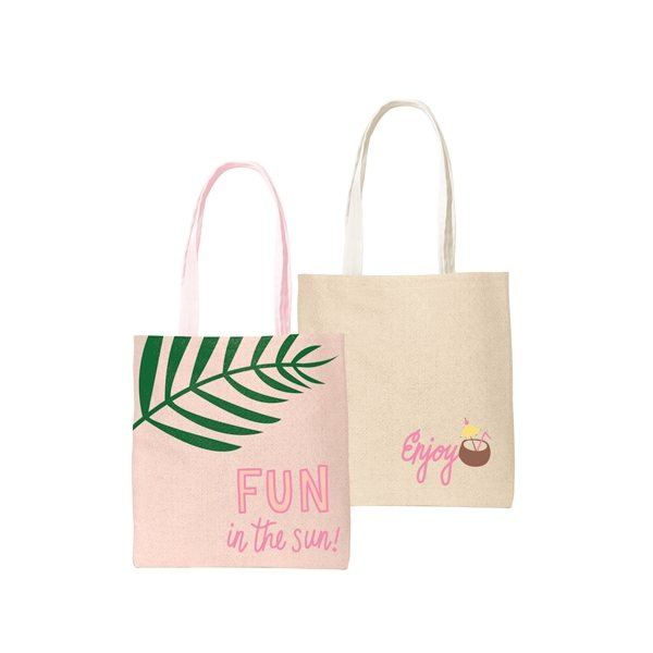 Promotional Main Squeeze Straw Tote Bag