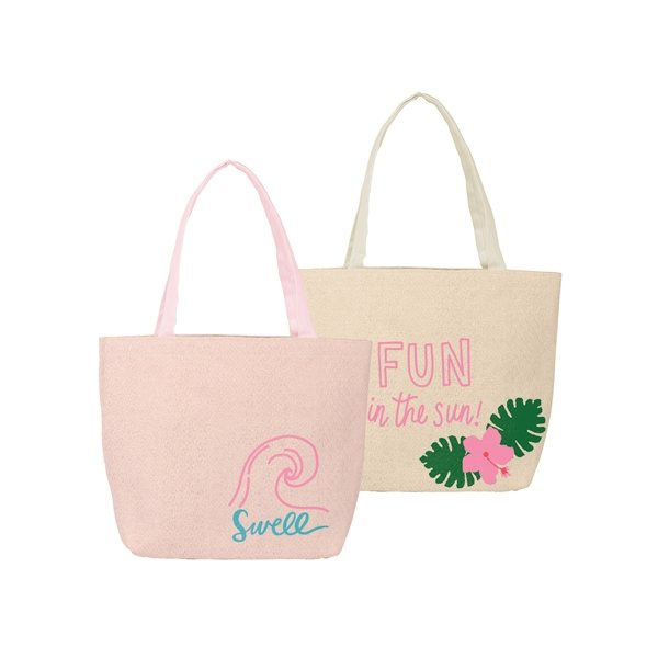 Promotional Birdie Bag Straw Tote Bag with Gusset