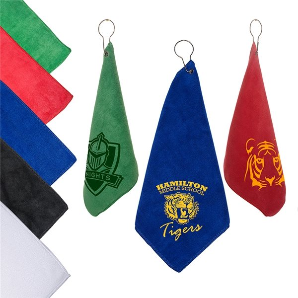 Promotional Microfiber Golf Towel with Grommet and Hook