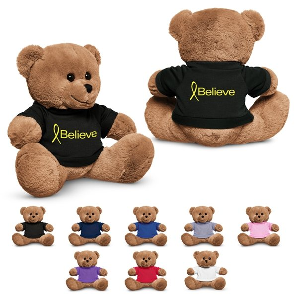 Promotional 8.5 Plush Bear with T - Shirt