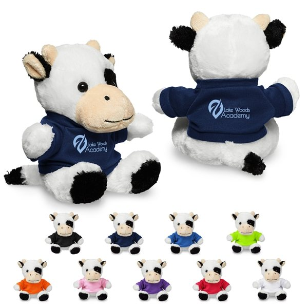 Promotional 7 Plush Cow with T - Shirt