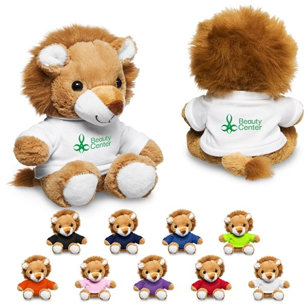 Promotional 7 Plush Lion with T - Shirt