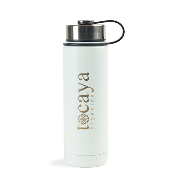 Promotional Andes Double Wall Stainless Bottle - 20 oz - White