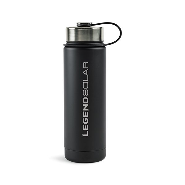 Promotional Andes Double Wall Stainless Bottle - 20 oz - Black
