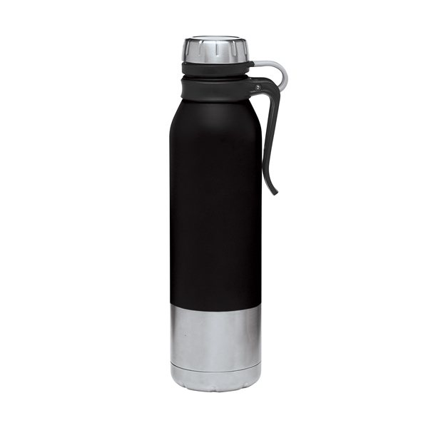 Promotional 25 oz Clip - On Stainless Steel Vacuum Bottle