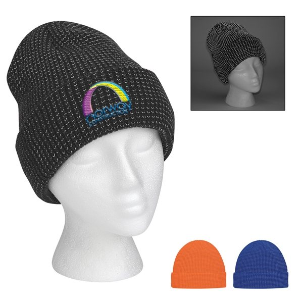 Promotional Reflective Beanie With Cuff