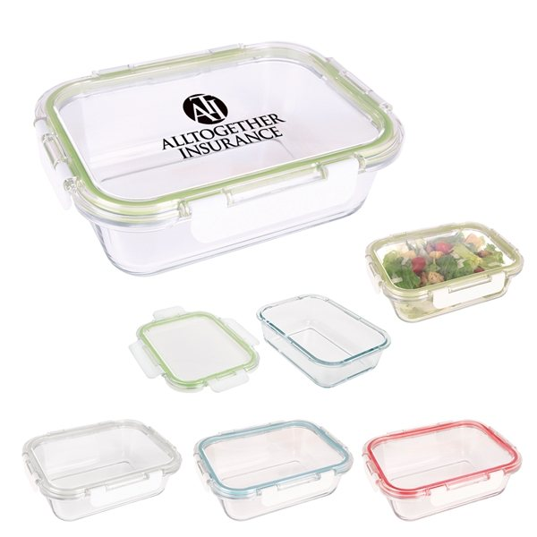 Promotional Fresh Prep Square Glass Food Container