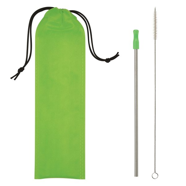 Promotional Stainless Steel Straw Kit